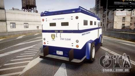GTA V Brute Police Riot [ELS] skin 3 para GTA 4 traseira esquerda vista