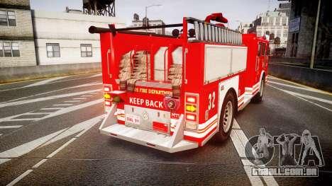 GTA V MTL Firetruck para GTA 4 traseira esquerda vista