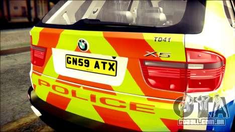 BMW X5 Kent Police RPU para GTA San Andreas vista traseira