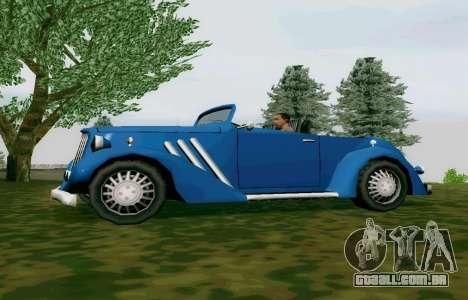 Hustler Cabriolet para GTA San Andreas esquerda vista