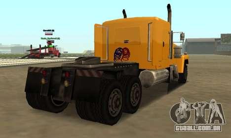 PS2 Tanker para GTA San Andreas traseira esquerda vista