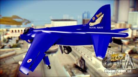 GR-9 Royal Navy Air Force para GTA San Andreas esquerda vista