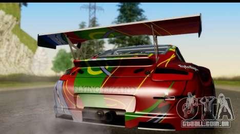 Porsche 911 GT3 RSR 2007 Flying Lizard para GTA San Andreas vista direita