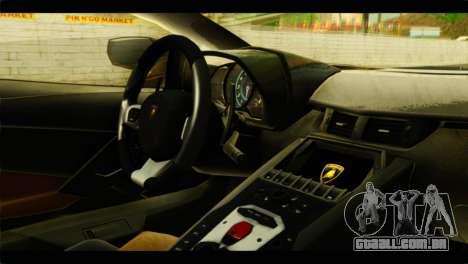Lamborghini Aventador LP700-4 para GTA San Andreas vista direita