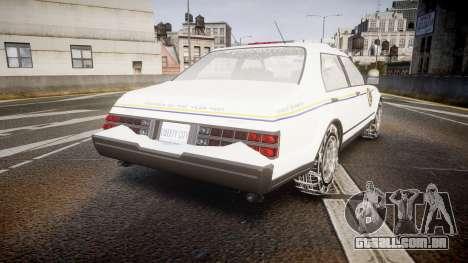 GTA V Albany Police Roadcruiser para GTA 4 traseira esquerda vista