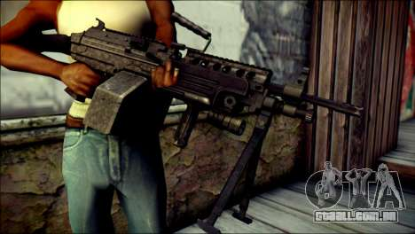 Gold M60 with Custom GTA 5 Icon para GTA San Andreas terceira tela
