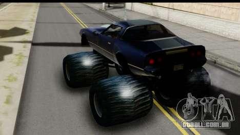 Monster Phoenix para GTA San Andreas traseira esquerda vista