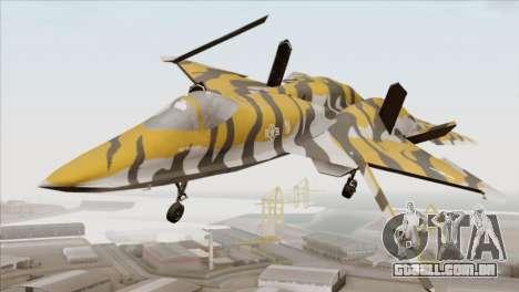 YF-23 Black Widow II Tigermeet para GTA San Andreas vista direita