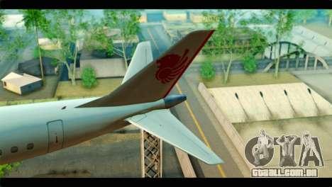Embraer 190 Lion Air para GTA San Andreas traseira esquerda vista
