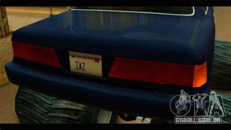 Monster Merit para GTA San Andreas traseira esquerda vista