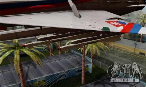 MIG-21MF Slovak Air Force SLP para GTA San Andreas vista direita