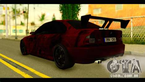 BMW 330 Tuning Red Dragon para GTA San Andreas esquerda vista