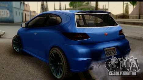 GTA 5 Dinka Blista para GTA San Andreas esquerda vista