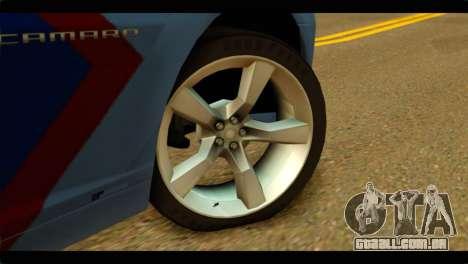 Chevrolet Camaro Indonesia Police para GTA San Andreas traseira esquerda vista
