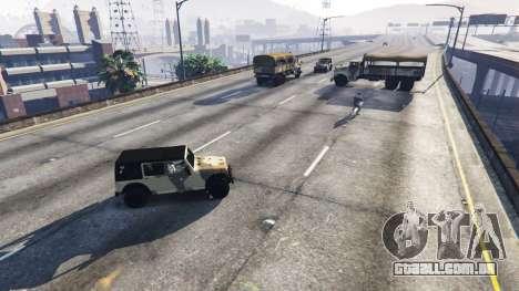 GTA 5 Soldados com 5 estrelas segundo screenshot