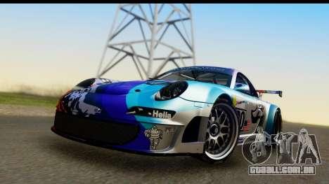 Porsche 911 GT3 RSR 2007 Flying Lizard para GTA San Andreas traseira esquerda vista