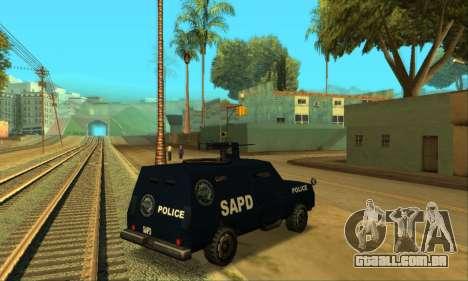 Beta FBI Truck para GTA San Andreas traseira esquerda vista
