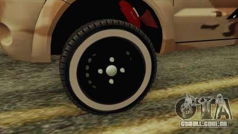 Toyota Hilux Siria Rebels para GTA San Andreas traseira esquerda vista