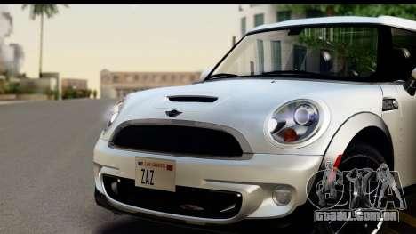 Mini Cooper Clubman 2011 para GTA San Andreas traseira esquerda vista