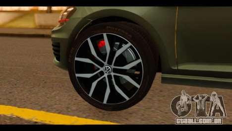 Volkswagen Golf Mk7 2014 para GTA San Andreas traseira esquerda vista