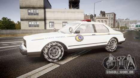 GTA V Albany Police Roadcruiser para GTA 4 esquerda vista