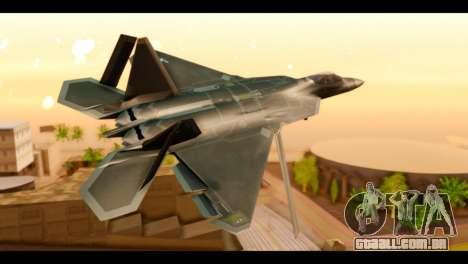 F-22 Raptor Flash para GTA San Andreas esquerda vista