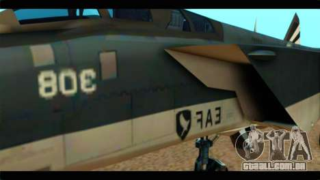 MIG-31 Pirat Squadron para GTA San Andreas vista traseira