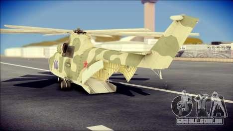 Mi-26 Halo para GTA San Andreas esquerda vista