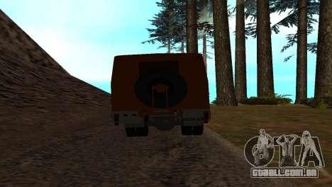 Roman Bus Edition para GTA San Andreas vista traseira
