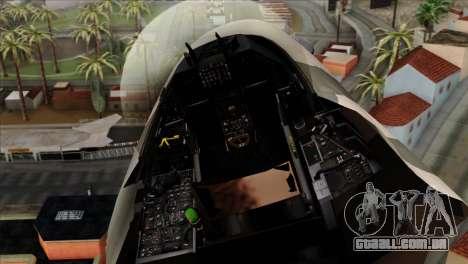 F-16C Top Gun para GTA San Andreas vista traseira