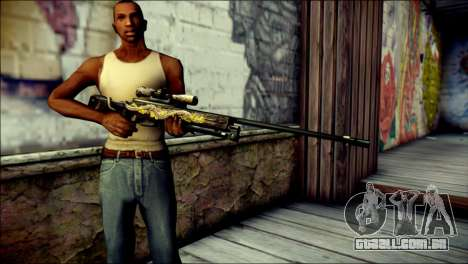 AWM Infernal Dragon CrossFire para GTA San Andreas terceira tela