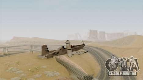 EMB T-6A Texan II US Navy para GTA San Andreas esquerda vista
