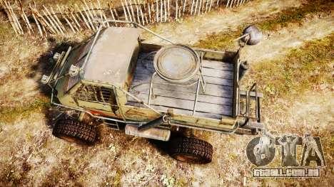Militar caminhão blindado para GTA 4 vista direita