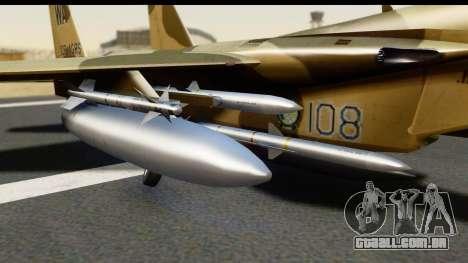 F-15C Eagle Desert Aggressor para GTA San Andreas vista direita