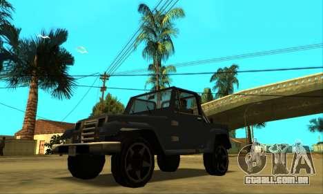 Mesa Final para GTA San Andreas vista inferior