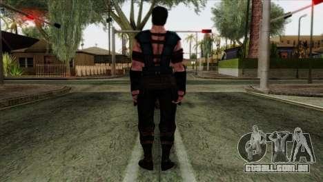 Sub-Zero Skin Mortal Kombat X para GTA San Andreas segunda tela
