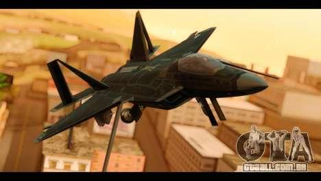 F-22 Raptor Flash para GTA San Andreas vista traseira