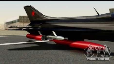 MIG-21F Fishbed B URSS Custom para GTA San Andreas vista direita