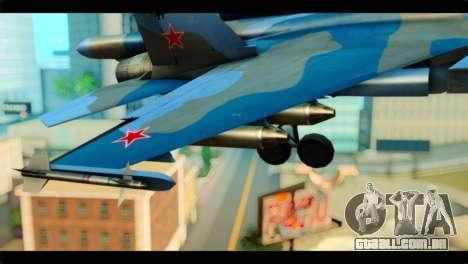 SU-34 Fullback Russian Air Force Camo Blue para GTA San Andreas vista direita