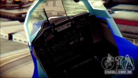 Mikoyan-Gurevich MIG-29K para GTA San Andreas vista traseira