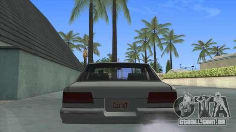 Premier Coupe para GTA San Andreas traseira esquerda vista