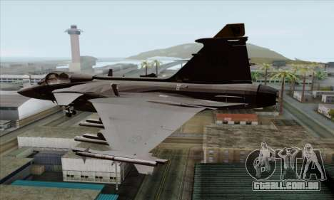 JAS-39 Gripen NG ACAH para GTA San Andreas esquerda vista