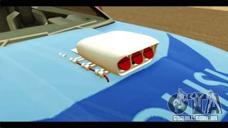 Chevrolet Camaro Indonesia Police para GTA San Andreas vista traseira