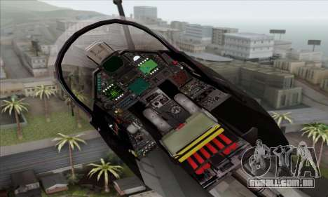 Dassault Mirage 2000-N SAM para GTA San Andreas vista traseira
