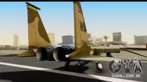 F-15C Eagle Desert Aggressor para GTA San Andreas vista traseira
