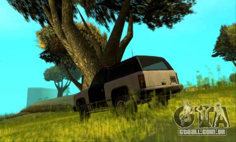 Beta Police Ranger para GTA San Andreas vista superior