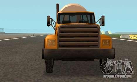 Cement Truck Fixed para GTA San Andreas vista interior