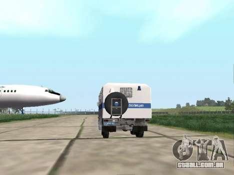 KamAZ-43114 um OMON para GTA San Andreas vista direita