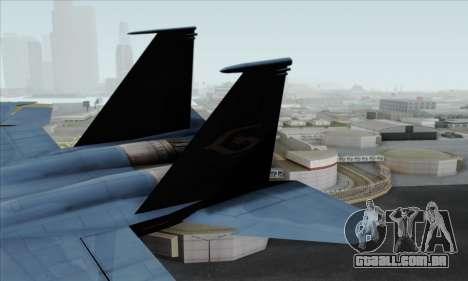 McDonnell Douglas F-15D Eagle GRDF para GTA San Andreas traseira esquerda vista