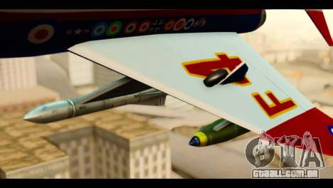 McDonnell Douglas F-4E Phantom II para GTA San Andreas vista direita